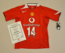 Alan Smith Signed Manchester United 04/05 #14 Home Shirt Autograph Man Utd COA