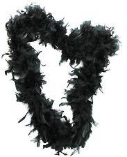 Black Feather Hand Fan 20s Burlesque Showgirl Hen Fancy Dress Costume Accessory