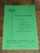 VILLIERS Handbook 7 7/1 10 10/1 10/2 12 12/1 12/2 15 15/2 (75 98 120 147 cc) 1963