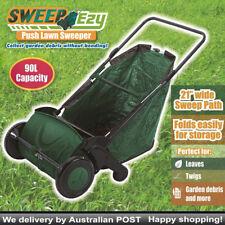 "90L Multi-Functional Garden Leaf Sweeper Collector Push Lawn Debris 21"" AU STOCK"