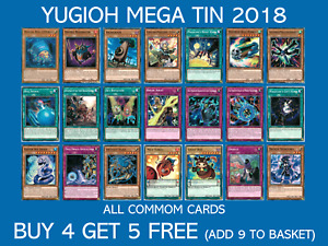 YuGiOh Mega Tin 2018 Commons - Choose your card - Buy 4 Get 5 Free -  MP18