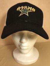 NHL Dallas Stars Vintage Nike Dad Hat Cap Black Tan 100% Wool Retro