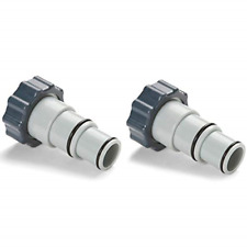 Intex Replacement Hose Adapter A w/Collar for Threaded Connection Pumps Pair