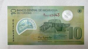 Nicaragua 10 Cordobas Banknote Polymer