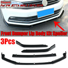 Bright Black Front Bumper Lip Spoiler For Volkswagen VW Jetta MK6.5 2015-2018
