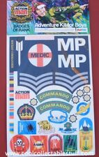 Palitoy Action Man Stickers Vintage Adventure Kit For Boys Patrol Badges New!