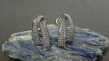 Ribbon Design Diamond Earrings 10k White Gold