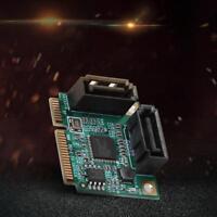 2 Ports Mini PCI-E PCI 3.0 Hard Drive Extension Card Express Express SATA