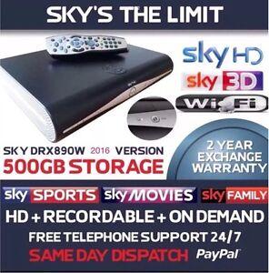 BRAND NEW SKY PLUS + HD WIFI BOX, 2018 MODEL, DRX890WL, 500GB