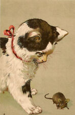 Cat Embossed Collectable Animal Postcards