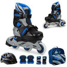 Inline Skates Kinder verstellbar 26 - 37 Inliner Rollschuhe blinkende Rolle blau