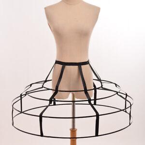 Victorian Crinoline Hoop Cage Skirt Pannier Bustle Petticoat Underskirt Costume