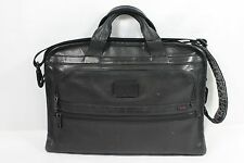 Tumi 96101DH Alpha Slim Deluxe Leather Portfolio Laptop Bag Pre-Owned FreeShip!