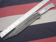 "11.25"" custom made hunting butter Damascus steel knife blank blade random 4907"