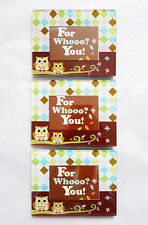 """NEW LOT of 3 Owls & Shapes Tabletop Glass Picture Frames (1 11/16"""" x 2 1/2"""")"""