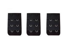 3 rallonges noires extension soutien gorge 2 crochets -  accessoire lingerie