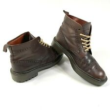 Banana Republic Oxford Wingtip Dark Brown Boots Lace Up Belagua Soles Mens 8