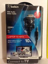 VGA AUDIO VIDEO CABLE BELKIN NEW UNOPENED ORIGINAL $39.99 HIGH QUALITY