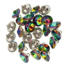 25 Colorful Crystal Upholstery Buttons Sewing Button for Sofa DIY Decor 16mm