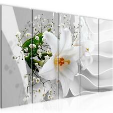 Wandbilder Set XXL Blumen Lilie 3D - Bild für Schlafzimmer Wohnzimmer Deko -Flur