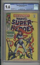 Marvel Super-Heroes #15 CGC 9.6 (OW/W) NM+ Medusa 1968 Silver Age Inhumans