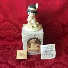 "Precious Moments 1991 ""Pm912"" ""Lord Keep Me In Teepee Top Shape"" New In Box-Mint"