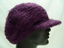 ICING - PURPLE ACRYLIC - ONE SIZE - CADET CAP STYLE - BEANIE HAT STOCKING CAP!