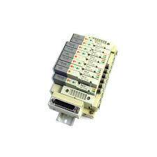 Lot Of 10 Smc Sv Series Solenoid Valves Withss5v1 Far002 Pneumatic Manifold