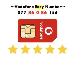 Vodafone Sim Card Easy Number GOLD VIP Sim Fancy Number ' 077 86 0 86 156'
