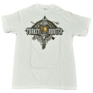 Turkey Hunter To The Bone Tshirt Hunting Nature Rifle Gun Cotton Adult Large LG
