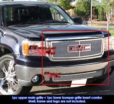 Fits GMC Sierra 1500/Sierra Denali Stainless Steel Mesh Grille Combo 07-11 2011