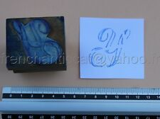 C1021 Mercerie ancien grand tampon encre Monogramme lettre Y broderie Embroidery