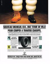 PUBLICITE ADVERTISING  1994   MICHELIN  pneus 4X4