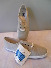 ViNTAGE NEW Keds 1991 CHAMP OXFORD GREY SNEAKERS TENNiS SHOES ROCKABiLLY BOHO L6