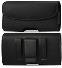For MetroPCS) LG Optimus L70 Belt Clip Holster Leather Pouch case