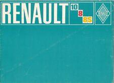 Renault 8 8S & 10 1300 1970-71 UK Market Sales Brochure