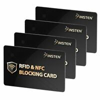 4x RFID Blocking Card Credit Card Protector NFC Signals Shield For Entire Wallet