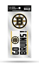 Boston Bruins Double Up Sticker Sheet Die Cut Decal New Team Color New 2 Logos