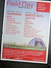 Radiohead -Beastie Boys-concert poster 'Field Day festival Calvert Ny