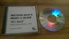 CD Hiphop Method Man - All I Need (1 Song) Promo DEF JAM US / Mary J Blige