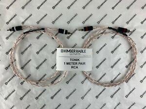 Kimber Kable TONIK 1 Meter Pair with RCA connectors (Retail $94)