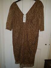 Autograph M &S Gold/bronze  Dress Size 18