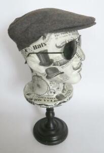 HARRISONS OF EDINBURGH FLAT CAP PURE WOOL TWEED CAP SIZE 7 1/2 MADE IN SCOTLAND