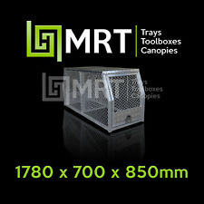ALUMINIUM UTE DOG CAGE BOX - 4X4 HUNTING PIGGING - 1780* 700*850mm - MRT25D