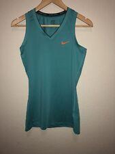 Nike Pro Women's Athletic Tank Top Size S Colors Teal Orange Black