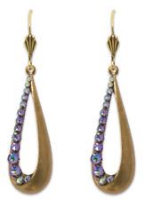 NEW ANNE KOPLIK FABULOUS TEARDROP SWAROVSKI CRYSTAL EARRINGS ~~MADE IN USA~~