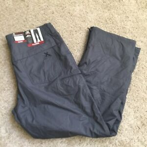 ZeroXposur Mens Snow Pants Insulated Fleece Lined X-Large Black Wooley