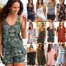 Summer Womens Holiday Mini Playsuit Jumpsuit Beach Casual Shorts Dress Romper XL