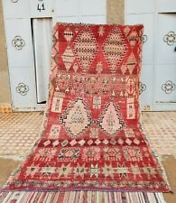 OLD Rug Moroccan . Vintage Boujaad Rug Hand Woven by Berber /Berber Carpets