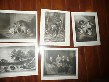 LOT of 5 Perry Pictures MISC Various Vintage 1930s Art Prints 10 x 12 READ